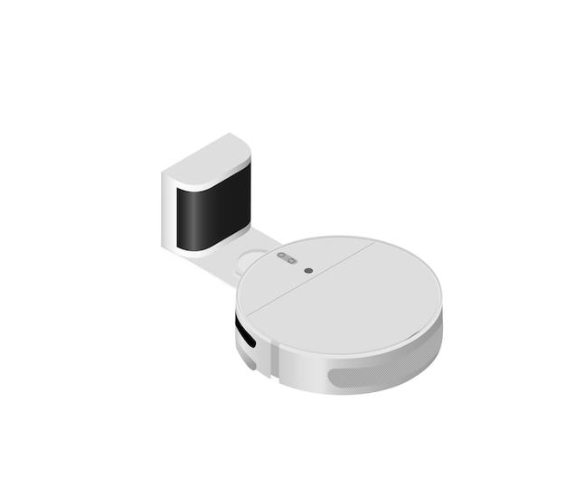 진공 청소기 로봇 아이소메트릭 스타일 홈 장비