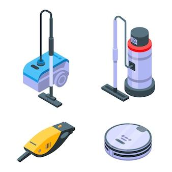 Vacuum cleaner set, isometric style