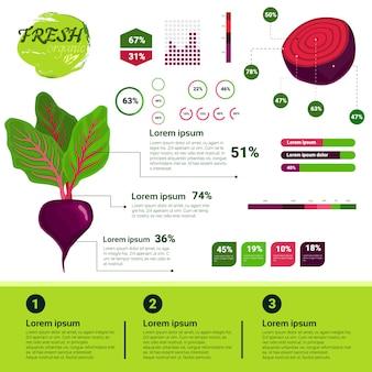 新しい有機性インフォグラフィックの自然なvagetablesの成長、農業および耕作