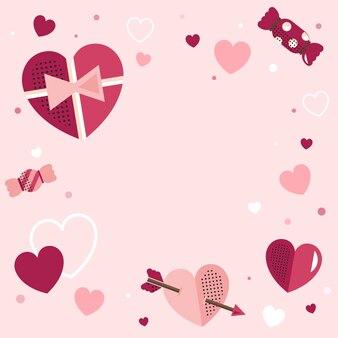 Valentine's Day blank background vector