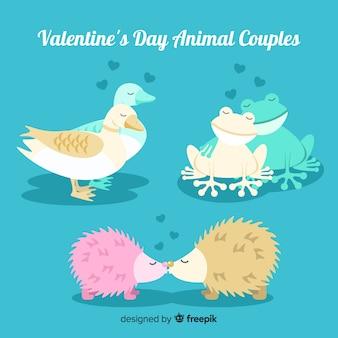 Valentine animal couple collection
