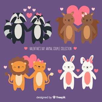 Valentine animal couple collection