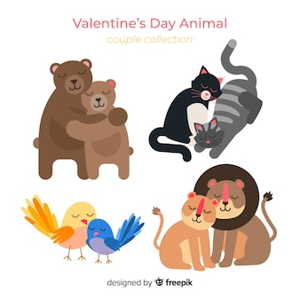 Valentine animal couple pack