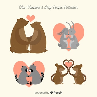 Valentine animal couple pack