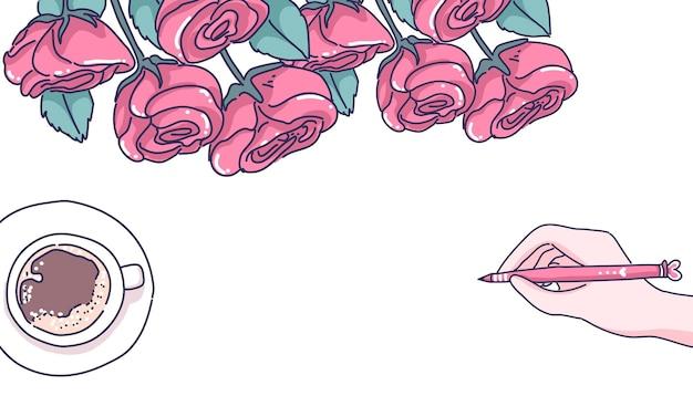 バレンタインの背景イラスト