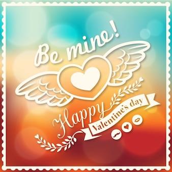 San valentino e matrimonio vettore bokeh modello sfondo per carta poster banner consiglio