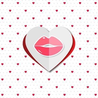 입술 발렌타인 배경