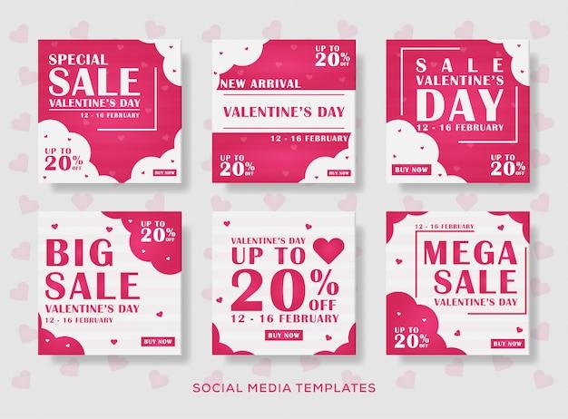 Valentine banner post.vector illustration