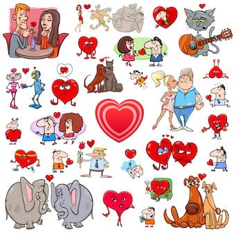 Valentine big cartoon set