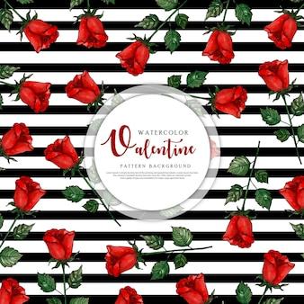 발렌타인 데이 블랙 스트라이프 패턴 배경