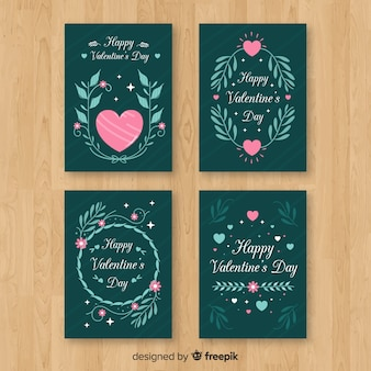 Valentine branches card collection