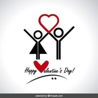 인간의 아이콘 발렌타인 데이 카드