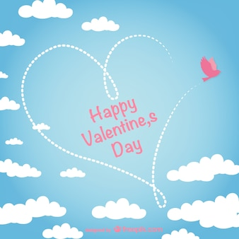 Valentine card with sky