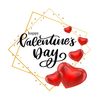Valentine card with typography