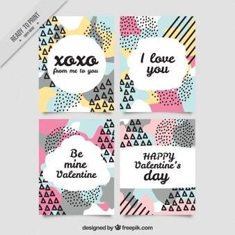 멤피스 디자인의 발렌타인 데이 카드