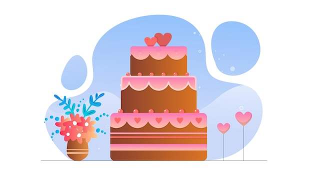 Валентина шоколадный торт иллюстрации фона
