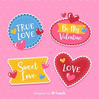 Valentine colorful label pack