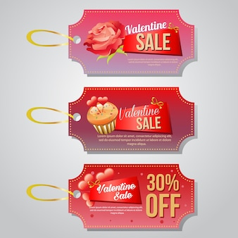 Valentine coupon and tag