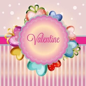발렌타인 데이 귀여운 사랑 장식