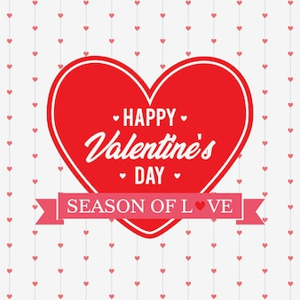 Valentine day abstract hanging heart background
