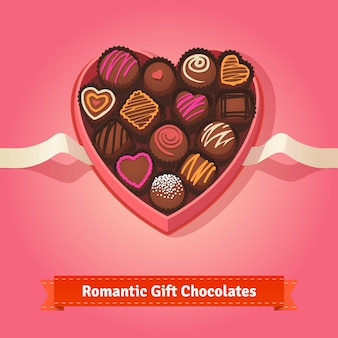 Valentine day, birthday chocolates in box