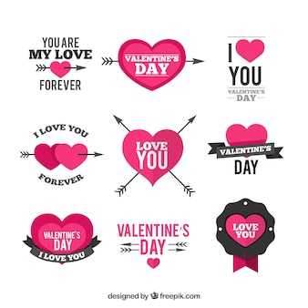 Valentine day decoration elements