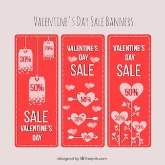 San valentino striscioni di sconto pacchetto di giorno