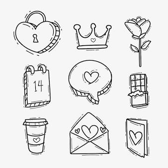 Valentine day element collection