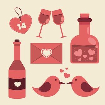 Valentine day element set