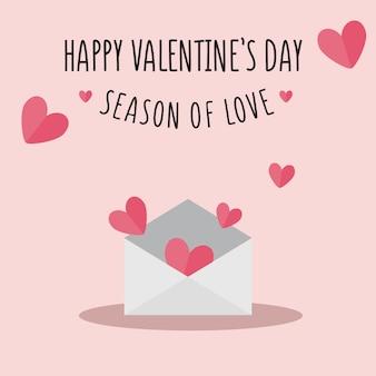 Valentine day flat background illustration