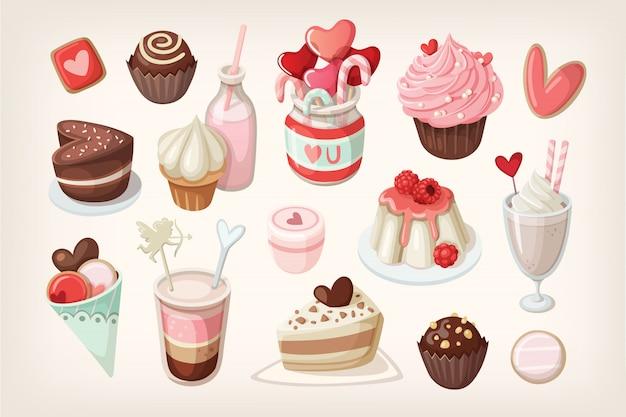 Valentine day food and desserts