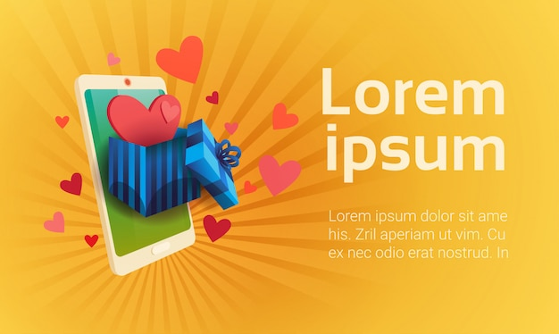 Valentine day gift card holiday love cell smart phone social network communication