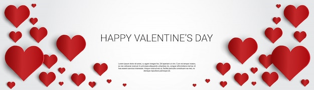 Valentine day gift card holiday love heart shape