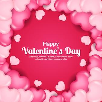 Valentine day greeting card banner