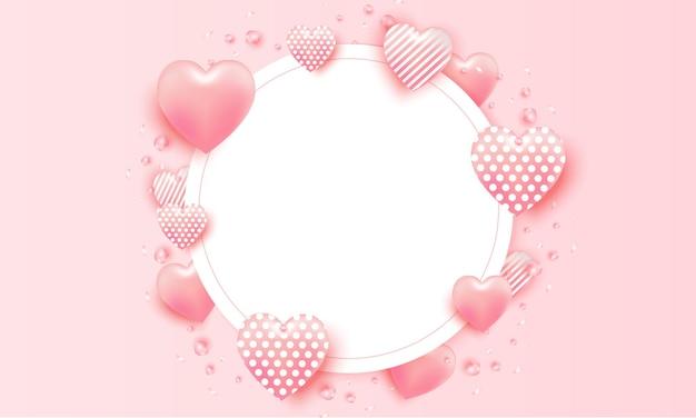 Valentine day  heart frame