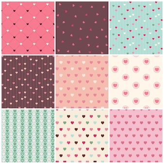 Valentine day heart pattern collection