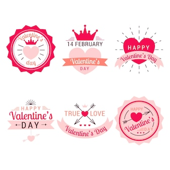 Valentine day label template