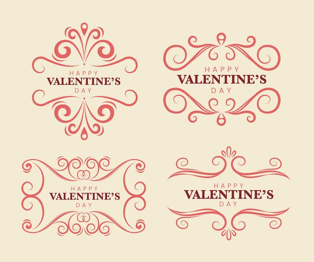 Valentine day labels