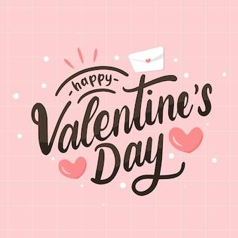 Valentine day lettering