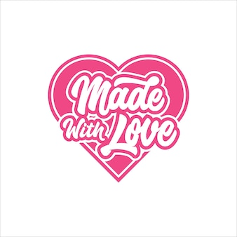 Valentine day made with love logo