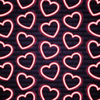День святого Валентина неоновый