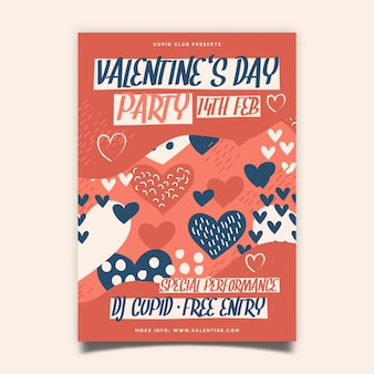 Valentine day party poster