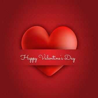 バレンタインの日赤いハートの背景
