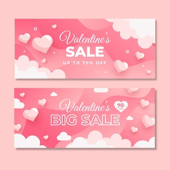 Valentine day sale banner