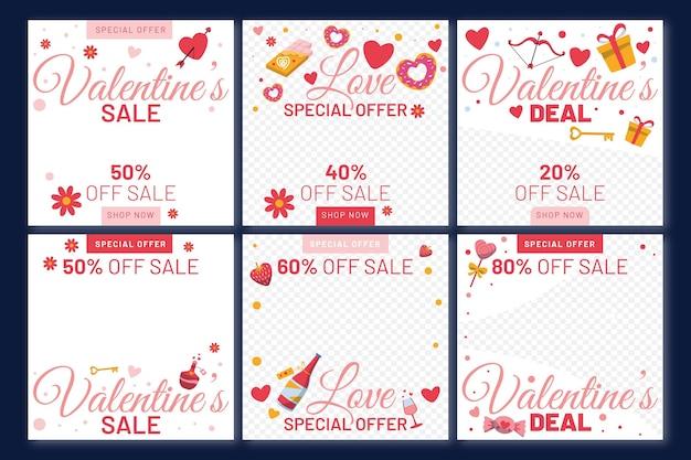 Post di instagram di vendita di san valentino