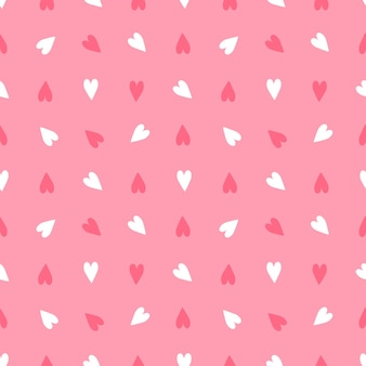 Valentine day of seamless pattern festive decoration on pink background with heart