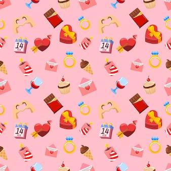 Valentine day theme seamless pattern