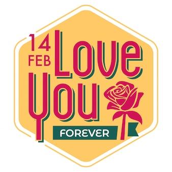 Valentine day typography