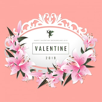 Valentine day vector illustration background