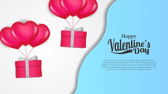Valentine days banner template